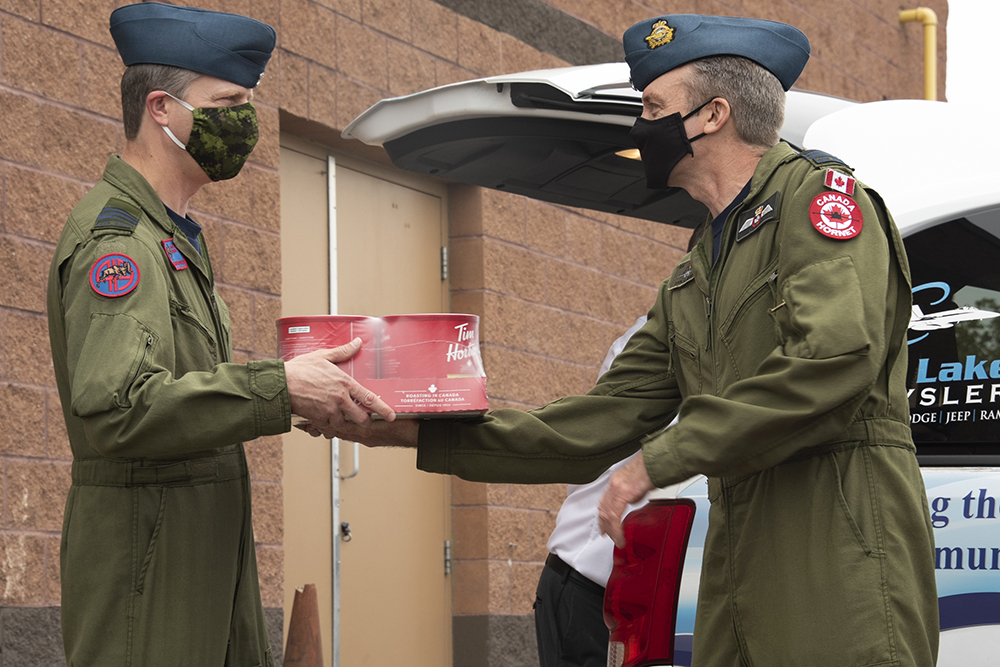 Local Tim Hortons owners donate coffee for 4 Wing 409 Sqn Romania deployment